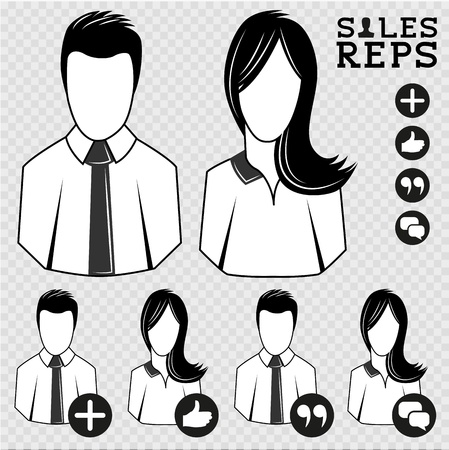 representatives: Sales Representatives  People Icon Illustration