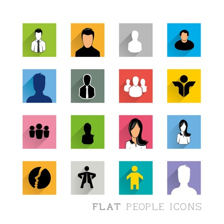 organised: Flat Icon Designs - People Icons. Layered vector illustration.