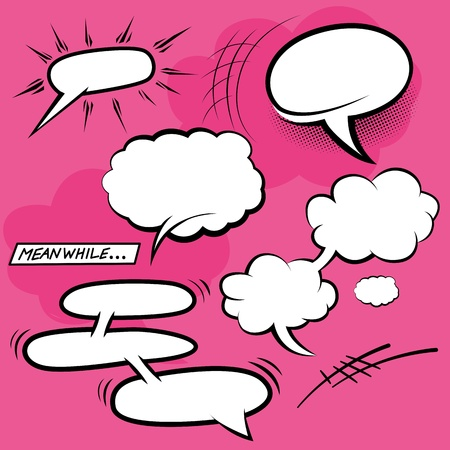 Comic Speech Bubbles - vector illustration. Stock Vector - 20420285