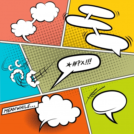 Retro Comic Speech Bubbles - Vector illustration Stock Vector - 20420291