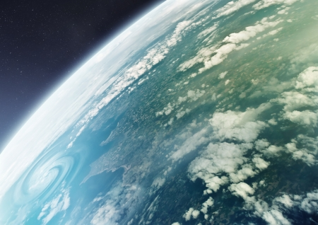 planeten: The Blue Marble - Planet Erde, der Planet des Lebens. Illustration. Lizenzfreie Bilder