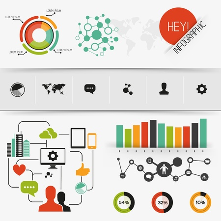 infomation: Colourful  Infographics, charts and infomation elements