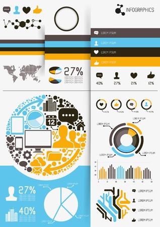 grafiken: Infografik Vektoren, Charts und Preisänderungen Elemente