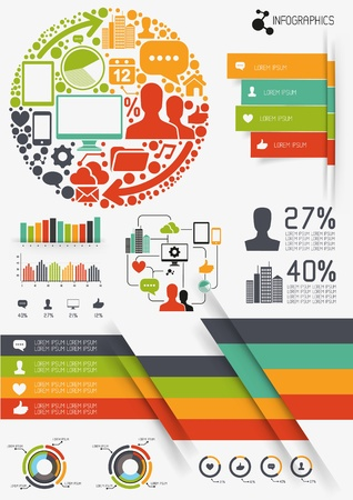 Infographics vectors, charts and infomation elements