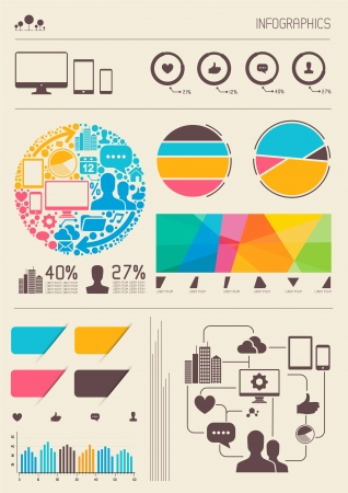 Infographics. Vector information graph and statistic elements.  Vector