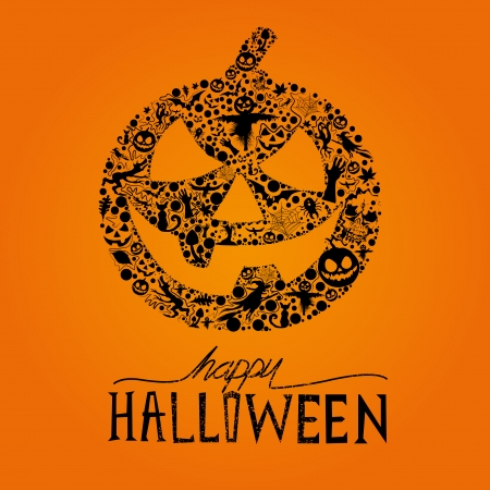 haunting: Happy Halloween vector Jack O Lantern  Seasonal halloween elements for design  Vector Illustration
