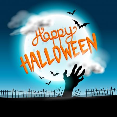 happy halloween: Happy Halloween Background vector with spooky elements  Illustration