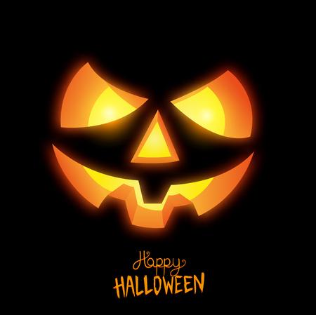 Happy Halloween Jack O Lantern vector illustration
