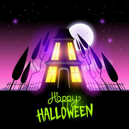 Haunted Halloween House themed vector illustration Stock Vector - 22787327