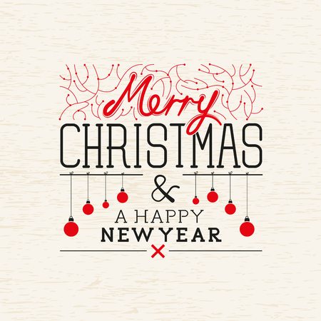 happy new year text: A merry christmas greeting background with christmas message