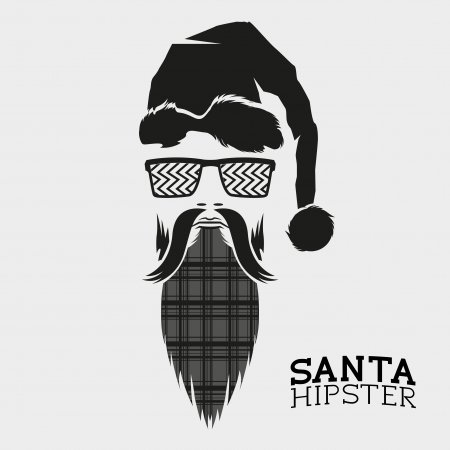 Santa Hipster, vector illustration design. Illustration