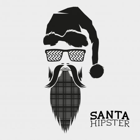 hipster: Santa Hipster, vector illustration design. Illustration