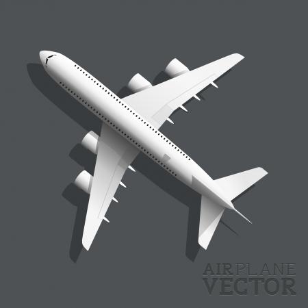 Un avión de la vista superior ilustración vectorial vector Ilustración de vector