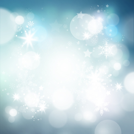 Shimmering Christmas Background with lights and snowflakes falling. Vector illustration Stock Vector - 23266787