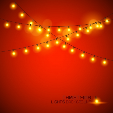 Warm Glowing Christmas Lights. Vector illustration Ilustração