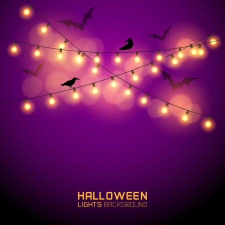 lights: Warm Glowing halloween Lights. Vector illustration