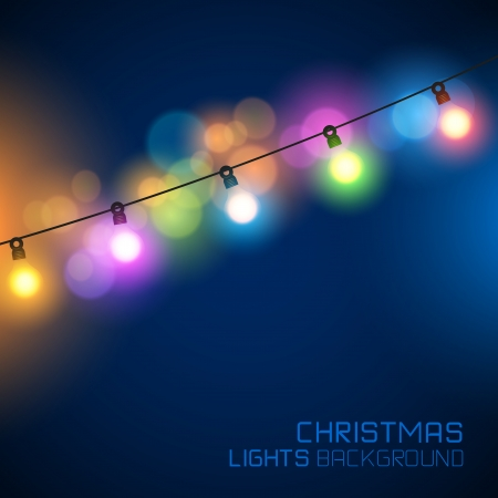 string of christmas lights: Glowing Christmas Lights. Vector illustration Illustration