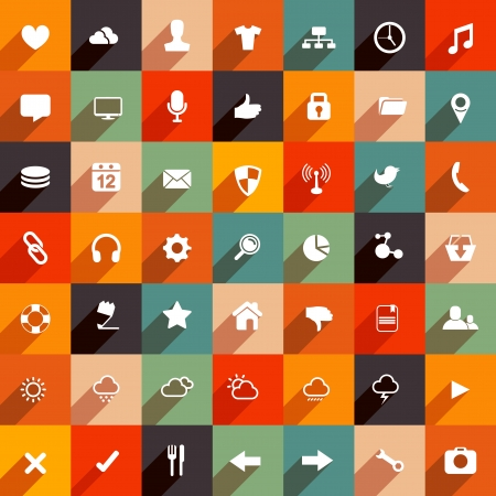organised: Modern flat icon collection. vector set.