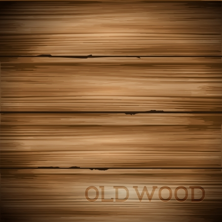 Old hard worn wood vector background.