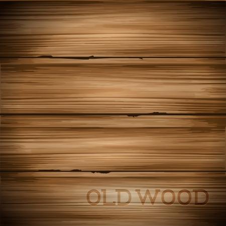 fondo legno: Vecchio disco indossato legno vettore sfondo.