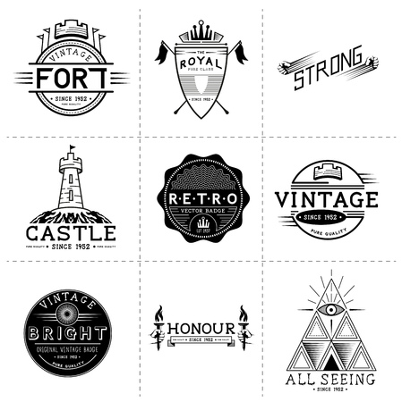 Vintage Vector Labels - Layered, hand crafted vintage vector labels and badges Vector