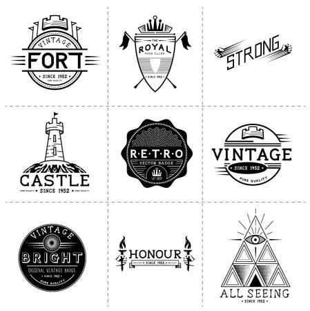 Vintage Vector Labels - Layered, hand crafted vintage vector labels and badges Illustration