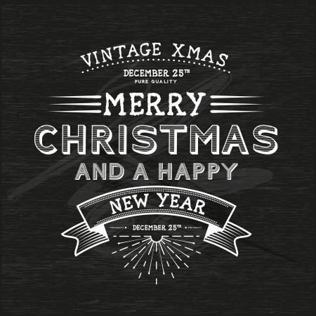 Vintage Christmas Message - Christmas Illustration  Vector