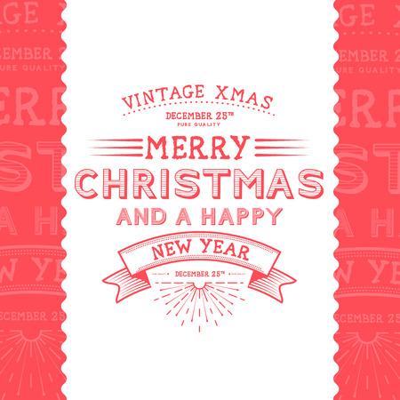 wonderful: Vintage Christmas Message - Christmas Illustration