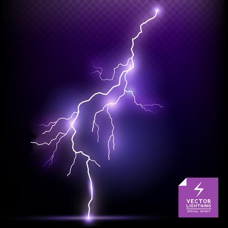 thunder storm: Lightning special effect illustration  Illustration
