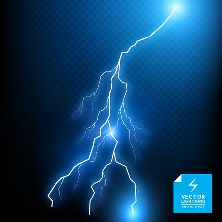 thunder storm: Blue Lightning Bolt - special effect  Illustration