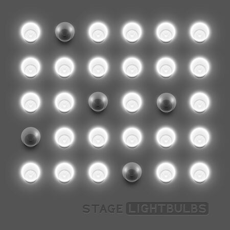 backstage: stage light bulbs illustration