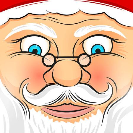 pere noel: Place Face Père Noël - Vector illustration.