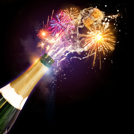 Champagne & Fireworks, Celebrations concept.