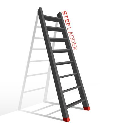 Metal Step Ladder Vector illustration.
