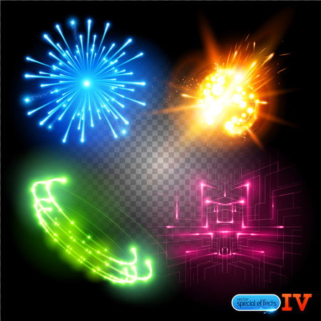 fx: Vector Special Effects Series 4. Each object grouped and layered. Illustration