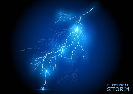 thunder storm: Electric Storm - vector lightning bolt.