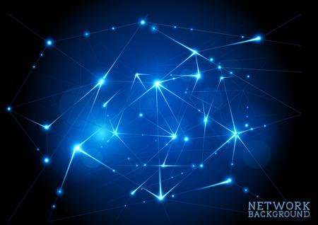 efectos especiales: Antecedentes de red conectado, ilustración de fondo abstracto del vector.