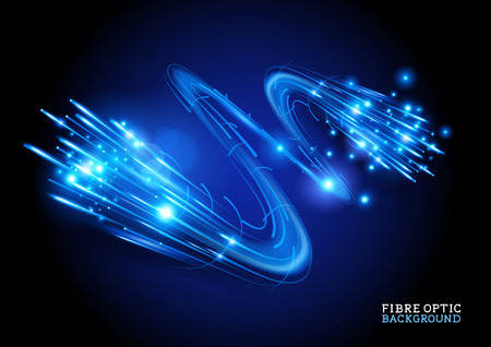Fondo de fibra óptica - ilustración vectorial Vectores