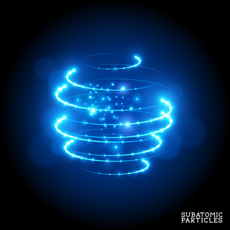 particle: Subatomic Particles - vector illustration.
