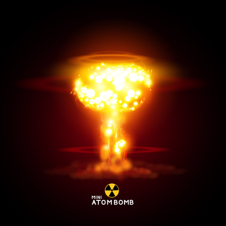 bomb explosion: Mini Atom Bomb - Vector illustration nuke.