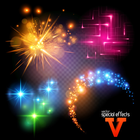 Vector Special Effects Series 5. Each object grouped and layered. Vector