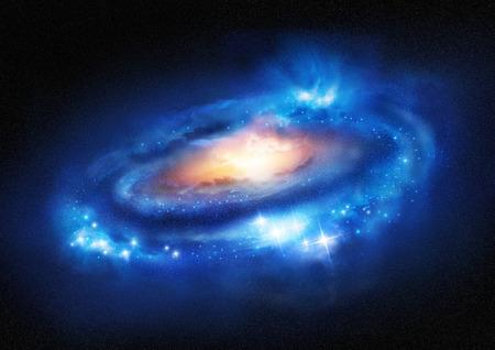 galaxy: Super-Enorme Galaxie - Eine schöne entfernten Galaxie. Illustration. Lizenzfreie Bilder