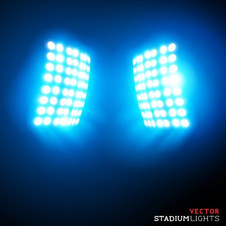 Stadion Lichter - Scheinwerfer - Vektor-Illustration.