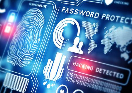 d�tection: Technologie de s�curit� en ligne de fond Banque d'images