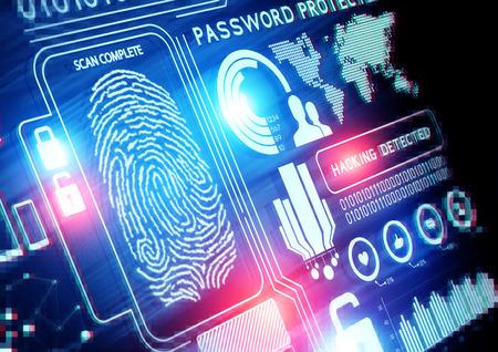 Antecedentes de la tecnología de seguridad en línea Foto de archivo - 27773285