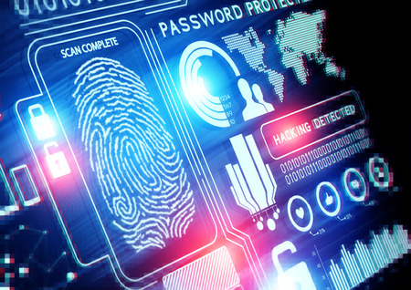 fingerprint:  Online Security Technology background