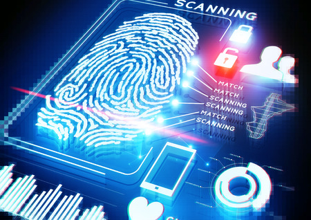 fingerprint: Digital Fingerprint Scanning background.