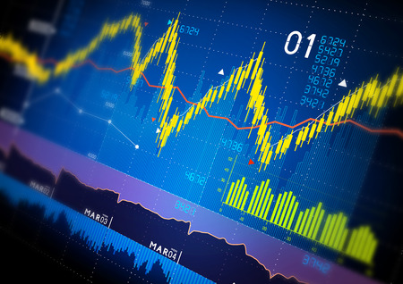 Stock market index graphs background. Stok Fotoğraf
