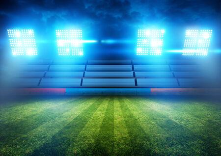 Football Stadium Lights. Background illustration. Stock Photo