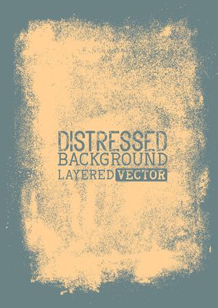 Distressed Background texture, layered vector illustration. Illustration